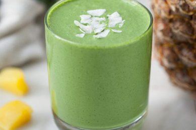 Recipe: Green piña colada smoothie