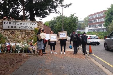 Day two of silent protest begins as investigations into Enock's death continue