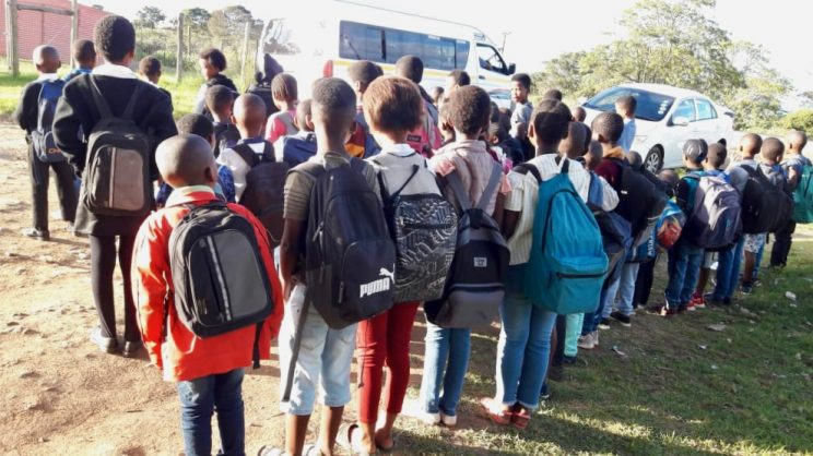 Residents demand transport for learners who walk up to 9km to school