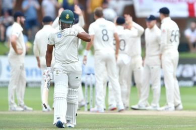 Proteas slump to heavy defeat despite Maharaj heroics