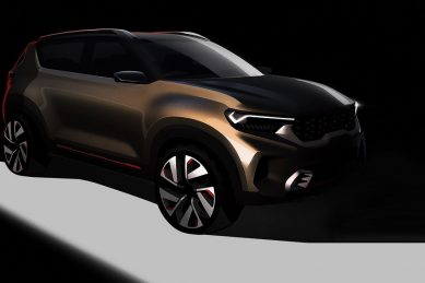Kia Sonet comes to life in new sketches ahead of Delhi Auto Expo reveal