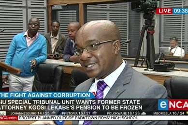 Special tribunal seeks to freeze former state attorney official's pension