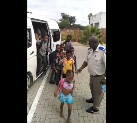 WATCH: Taxi driver arrested for 58 pupils crammed into his minibus