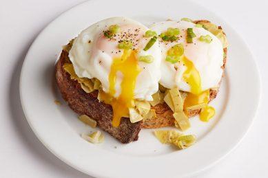 Recipe: Artichoke & egg tartine