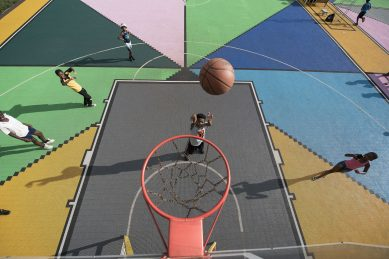 WATCH: A safe place to shoot the breeze – and some hoops