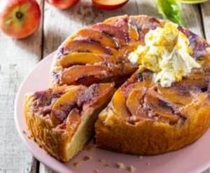 Recipe: Upside-down nectarine cake