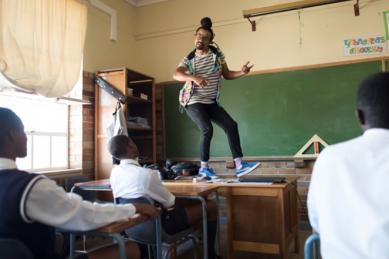 Local teachers uses hip hop to teach Maths