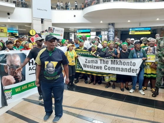 PICS: Zuma's supporters at OR Tambo to welcome him home