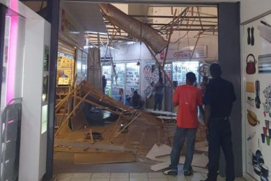 Centurion China mall, Centurion Mall ceilings collapse after heavy rains
