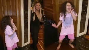 WATCH: #highnotechallenge Mariah Carey helps her daughter