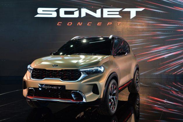 Kia writes new Sonet at Delhi Auto Expo