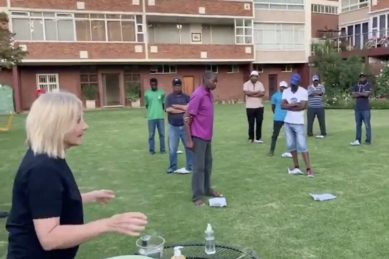 WATCH: White woman teaching black staff how to wash hands to 'Shosholoza' astonishes Twitter