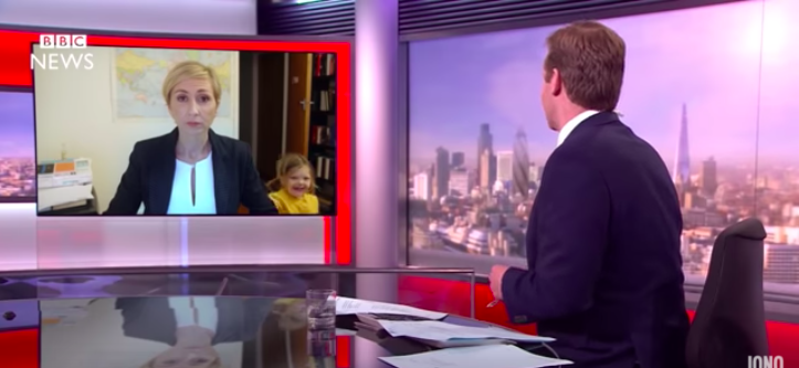 'BBC Dad' parody shows how moms would handle the same situation