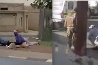 WATCH: Police and SANDF force Soweto residents to do hard exercise as punishment