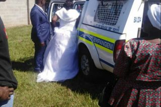 WATCH: Couple arrested for flouting Covid-19 lockdown regulations on their wedding day - The Citizen