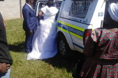 WATCH: Couple arrested for flouting Covid-19 lockdown regulations on their wedding day