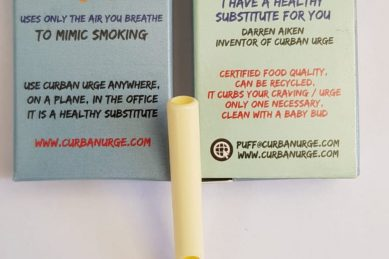 Local inventor hopes his 'plastic cigarette' will help smokers to quit