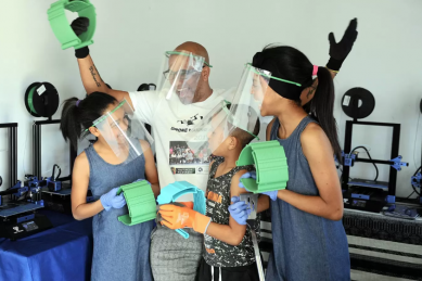 WATCH: Mitchells Plain family manufacturing 3D masks for community
