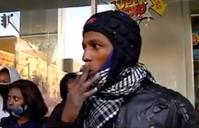 WATCH: Man smokes during live TV interview
