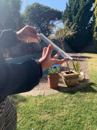 WATCH: Mpumalanga temperatures hit -14°C, leaving resident's pool frozen