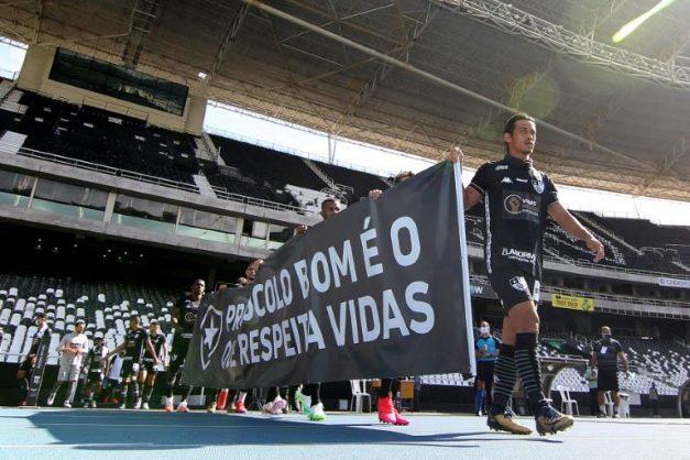 Brazil's Botafogo protest return to pitch