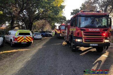 Centurion mother and three children rescued from burning house