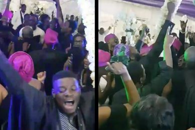 Twitter war brewing over Nigerian wedding guests moshing to heavy metal
