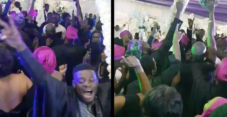 Twitter war brewing over Nigerian wedding guests moshing to heavy metal