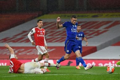 Arteta thinks Vardy should have been red-carded