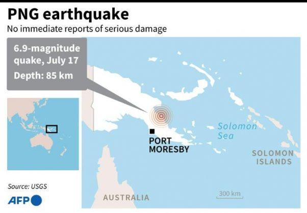 6.9-magnitude quake hits Papua New Guinea
