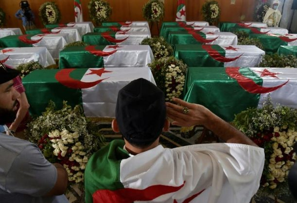 Algeria buries repatriated remains of anti-colonial fighters