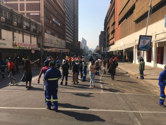WATCH: Trucks go up in flames as protests continue in Pretoria