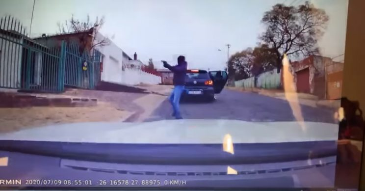 WATCH: Shots fired after attempted hijacking incident