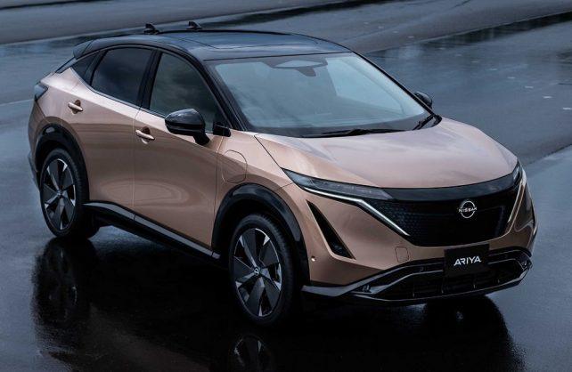 Futuristic Nissan Ariya's system plug-in complete