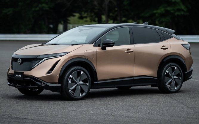 Larger Nissan Ariya-based all-electric SUV possibly in the pipeline
