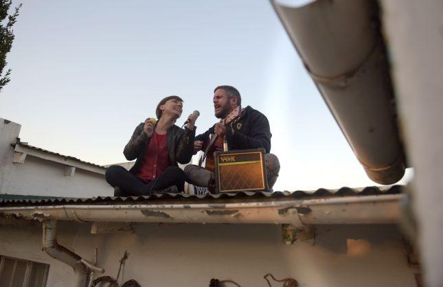 WATCH: Joburg duo sings the lockdown blues away from their roof