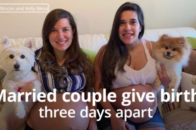 WATCH: Best friends who got married explain how they fell pregnant at the same time