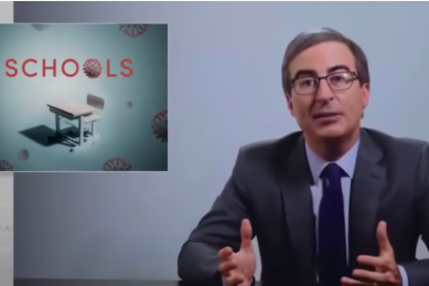 WATCH: John Oliver has some good insights into why schools should remain closed