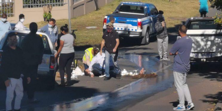 Man left injured in street after attack during morning walk
