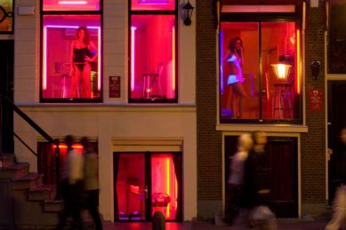 Amsterdam's sex district open for business