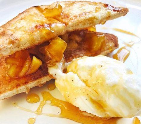 A decadent breakfast apple pie toasties recipe