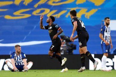 Sterling hat-trick as Man City secure top four ahead of Champions League verdict