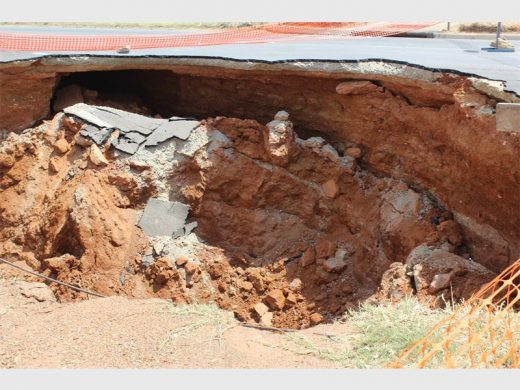 Benoni sinkhole road repairs to be completed in August