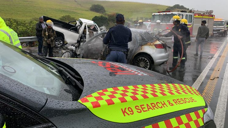 WATCH: Dagga loaded Audi collides with bakkie, killing four people in KZN