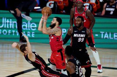 VanVleet career best as Raptors cool Heat