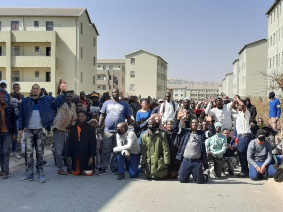 IN PICS: 2,000 people evicted after illegally occupying Fleurhof housing development