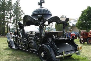 Six ridiculously ornate hearses to die for