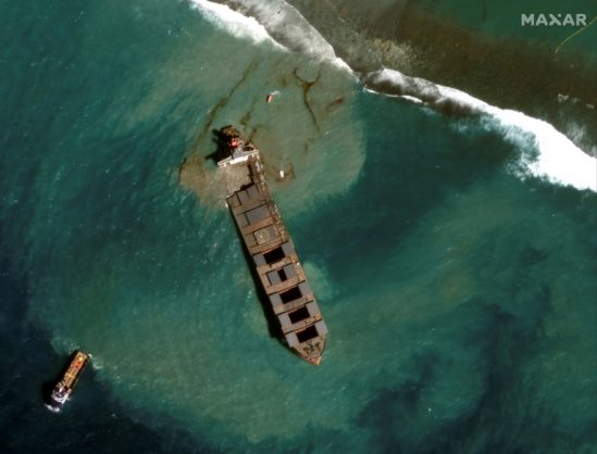 Mauritius arrests captain of oil-spill ship