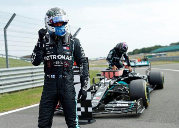 Bottas pips Hamilton for 70th Anniversary Grand Prix pole