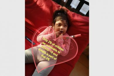 Roodepoort toddler can't even go outside due to Covid-19 challenges